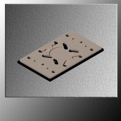 Πλάκα ελαστική για RUPES LE71T, LE71TE, LE71TC χωρίς VELCRO (986.012)